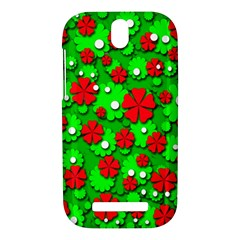 Xmas flowers HTC One SV Hardshell Case