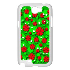 Xmas flowers Samsung Galaxy Note 2 Case (White)