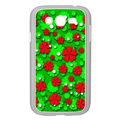 Xmas flowers Samsung Galaxy Grand DUOS I9082 Case (White)