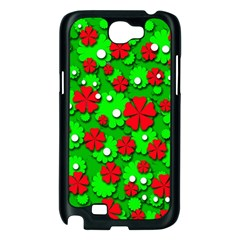 Xmas flowers Samsung Galaxy Note 2 Case (Black)