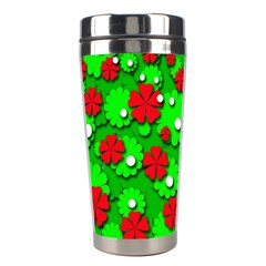 Xmas flowers Stainless Steel Travel Tumblers
