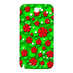 Xmas flowers Samsung Note 2 N7100 Hardshell Back Case