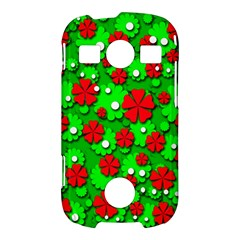 Xmas flowers Samsung Galaxy S7710 Xcover 2 Hardshell Case