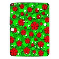Xmas flowers Samsung Galaxy Tab 3 (10.1 ) P5200 Hardshell Case