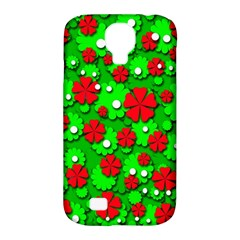 Xmas flowers Samsung Galaxy S4 Classic Hardshell Case (PC+Silicone)