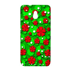 Xmas flowers HTC One Mini (601e) M4 Hardshell Case