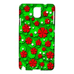 Xmas flowers Samsung Galaxy Note 3 N9005 Hardshell Case