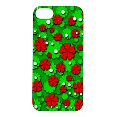 Xmas flowers Apple iPhone 5S/ SE Hardshell Case