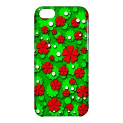Xmas flowers Apple iPhone 5C Hardshell Case
