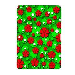 Xmas flowers Samsung Galaxy Tab 2 (10.1 ) P5100 Hardshell Case