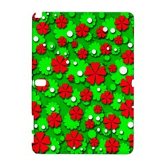 Xmas flowers Samsung Galaxy Note 10.1 (P600) Hardshell Case