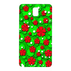 Xmas flowers Samsung Galaxy Note 3 N9005 Hardshell Back Case