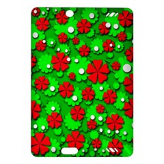 Xmas flowers Amazon Kindle Fire HD (2013) Hardshell Case
