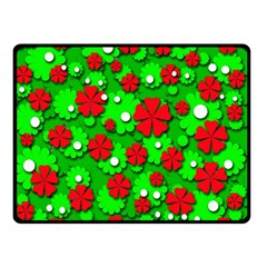 Xmas flowers Double Sided Fleece Blanket (Small)