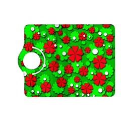 Xmas flowers Kindle Fire HD (2013) Flip 360 Case