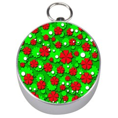 Xmas flowers Silver Compasses