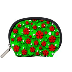 Xmas flowers Accessory Pouches (Small)