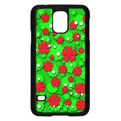 Xmas flowers Samsung Galaxy S5 Case (Black)