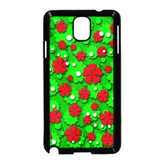 Xmas flowers Samsung Galaxy Note 3 Neo Hardshell Case (Black)