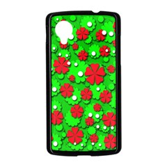 Xmas flowers Nexus 5 Case (Black)