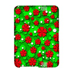 Xmas flowers Amazon Kindle Fire (2012) Hardshell Case