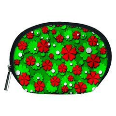 Xmas flowers Accessory Pouches (Medium)