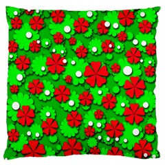 Xmas flowers Standard Flano Cushion Case (One Side)