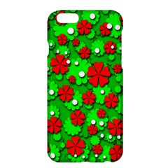 Xmas flowers Apple iPhone 6 Plus/6S Plus Hardshell Case