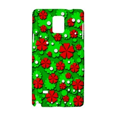 Xmas flowers Samsung Galaxy Note 4 Hardshell Case
