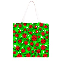 Xmas flowers Grocery Light Tote Bag