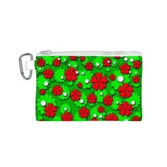 Xmas flowers Canvas Cosmetic Bag (S)