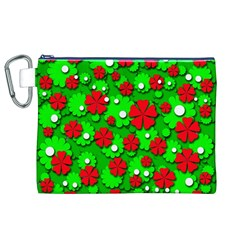 Xmas flowers Canvas Cosmetic Bag (XL)