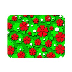 Xmas flowers Double Sided Flano Blanket (Mini)
