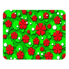 Xmas flowers Double Sided Flano Blanket (Large)