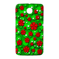 Xmas flowers Nexus 6 Case (White)