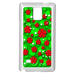 Xmas flowers Samsung Galaxy Note 4 Case (White)