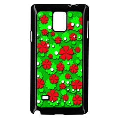 Xmas flowers Samsung Galaxy Note 4 Case (Black)