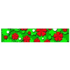 Xmas flowers Flano Scarf (Small)