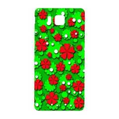 Xmas flowers Samsung Galaxy Alpha Hardshell Back Case