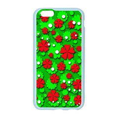 Xmas flowers Apple Seamless iPhone 6/6S Case (Color)