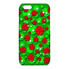 Xmas flowers iPhone 6/6S TPU Case