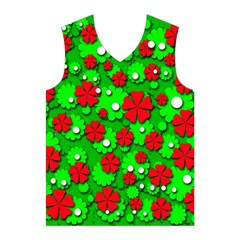 Xmas flowers Men s Basketball Tank Top
