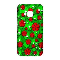 Xmas flowers HTC One M9 Hardshell Case