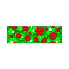 Xmas flowers Satin Scarf (Oblong)
