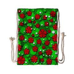 Xmas flowers Drawstring Bag (Small)