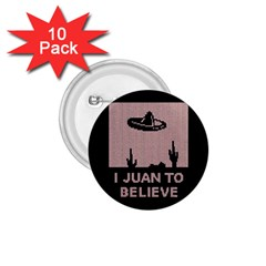I Juan To Believe Ugly Holiday Christmas Black Background 1.75  Buttons (10 pack)