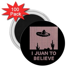 I Juan To Believe Ugly Holiday Christmas Black Background 2.25  Magnets (100 pack)