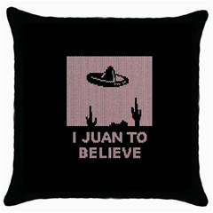 I Juan To Believe Ugly Holiday Christmas Black Background Throw Pillow Case (Black)