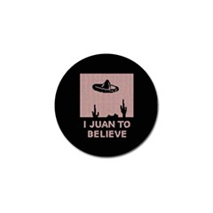 I Juan To Believe Ugly Holiday Christmas Black Background Golf Ball Marker