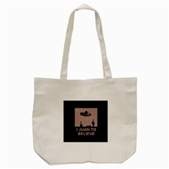 I Juan To Believe Ugly Holiday Christmas Black Background Tote Bag (Cream)